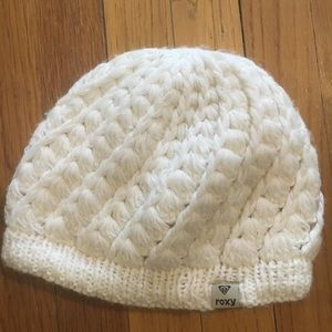 Roxy fleece and knit hat